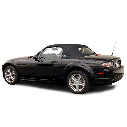 Sierra Auto Tops Convertible Soft Top Replacement, compatible with Mazda Miata MX5 2006-2015, w/Heated Glass Window, Cabrio Vinyl, Black