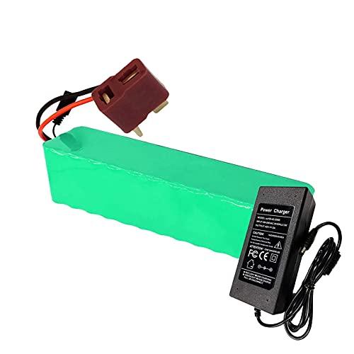 FREEDOH Batería Iones Litio 48V 6000mAh Ebike Paquete Baterías 13S 2P 6Ah para Motor 350W 500W 750W 1000W para Scooter Eléctrico Motocicletas Eléctricas Triciclos Eléctricos con Cargador