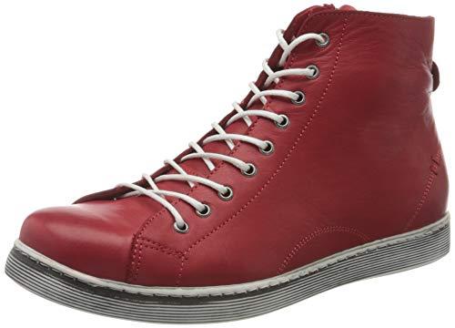 Andrea Conti Damen 0341500 Hohe Sneaker, Rot (Chili 583), 36 EU