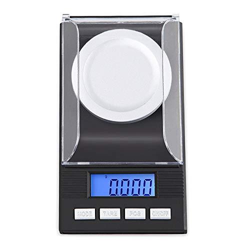 Mogzank Escala Digital de Miligramos 100 X 0,001 G - con Pantalla LCD PequeeA, Balanza de Bolsillo Digital, Balanza de Laboratorio Digital
