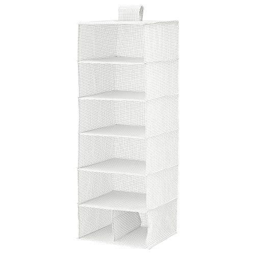 Ikea Stuk Storage with 7 compartments, White/Grey, 30x30x90 Cm (11 ¾x11 ¾x35 ½)