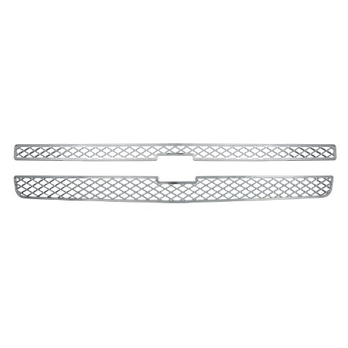 Bully GI-40 Triple Chrome Plated ABS Snap-in Imposter Grille Overlay, 2 Piece