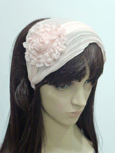 rougecaramel Haarreif mit Plisse Weise Haarband–Puderrosa