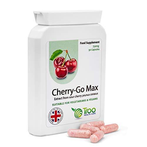 Cherry Go Max Montmorency-Kirschen (750 mg) - 90 Kapseln - Hochkonzentrierte Gefriergetrocknete