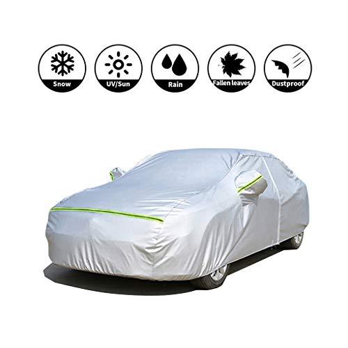 Autoplanen Garagen Kompatibel mit Autoabdeckung vollgarage Nissan X-Trail, for Autos Allwetterwasserdicht Seidenstoff Dupont Material Silber (Color : Silver, Size : 4455×1765×1750MM)