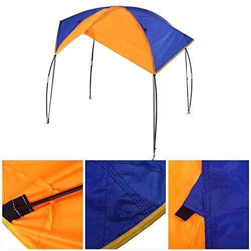 Generic 2/3/4 Personnes pour Choisir Bateau Gonflable Tente Abri Soleil Gonflable Bateau en Caoutchouc PVC Bateau de pêche Tente Auvent, for 4 Person