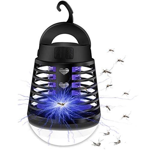 Sylanda 2-In-1 Mückenlampe Campinglampe LED Laterne, Insektenvernichter Elektrisch Fliegenfalle, IP66 wasserdichte Tragbare Insektenlampe Zeltlampe, USB Wiederaufladbar für Innen Außen