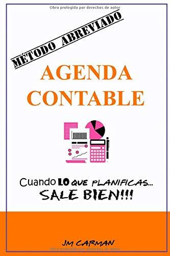 Agenda Contable - MÉTODO ABREVIADO - Edición Color: Organizador de presupuestos y financiero, libro de cuentas, planner. Organiza tus gastos ... sin fecha. Cuaderno de cuentas domésticas.