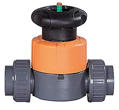 """George Fischer Type 514 PVC Manual Diaphragm Valve, 1"""", 32.5 Cv from COLE-PARMER"""