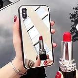 Shinyzone Miroir Coque pour iPhone XR 6.1 Pouce,Élégant Argent Dur PC Retour Housse étui,Pare-Chocs Flexible en Silicone avec Mode Miroir Maquillage,Miroir Argent