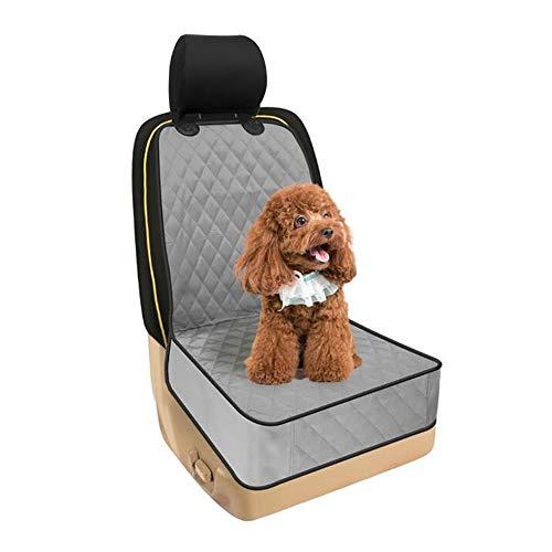 HAORI Pet Front Seat Cover voor auto's - Waterdicht en antislip steun met ankers, gewatteerde, duurzame Pet Seat Covers voor auto's, vrachtwagens en SUV's