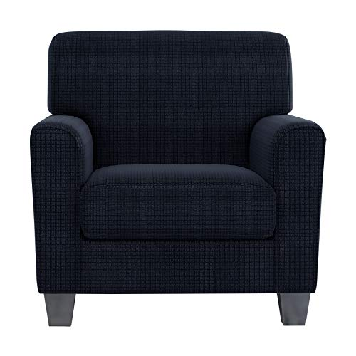 ZNSAYOTX 2 Piece Chair Covers for Living Room with Arms Anti Slip Stretch Arm Chair Slipcovers Sofa Armchair Slipcover Machine Washable Furniture Protector (Navy Blue, Chair)