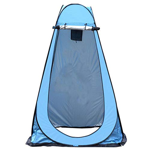 TTlove Camping Toilet Tent Pop Up Shower Privacy Tent for Outdoor Changing Dressing Fishing Bathing Storage Room Tents, Portable with Carrying Bag(C#Blue,120X120X190CM)