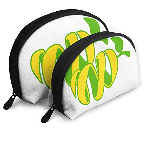 Portable Shell Makeup Storage Bags Mango Art Fan Gift Travel Waterproof Toiletry Organizer Clutch...