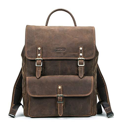 Generic Vintage Genuine Leather Backpack School Travel Laptop Backpacks for Teenager