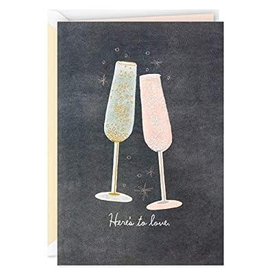 Hallmark Signature Wedding Card, Bridal Shower Card, Engagement Card (Champagne Flutes)