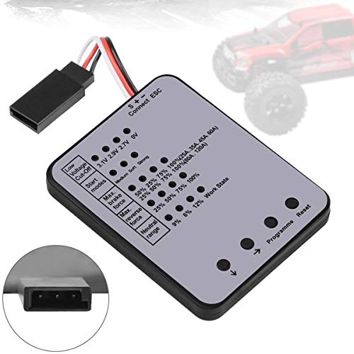 RC Car Program Card Electronic Speed Controller Programmer for RC Car 25A- 120A ESC Brushless Motor
