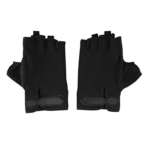 T best 1 Pair Half-Finger Gloves, Cycling Gloves Fitness Gloves for Outdoor Cycling Climbing Sports(Black)