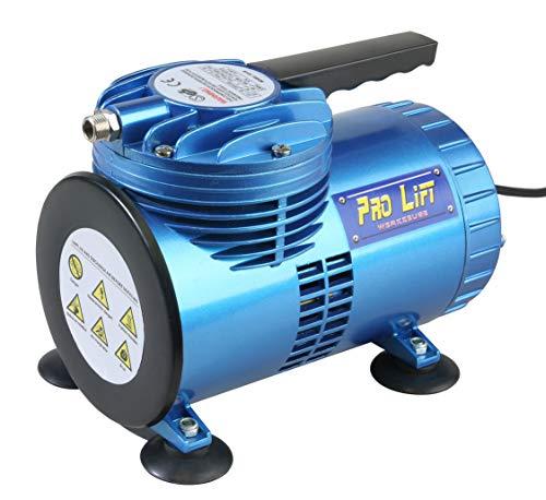 Pro-Lift-Werkzeuge Membran Airbrush Kompressor 1 Zylinder / 3,5 bar Mini Kompressor 68l/min 230V Abschaltautomatik ölfrei vollautomatisch