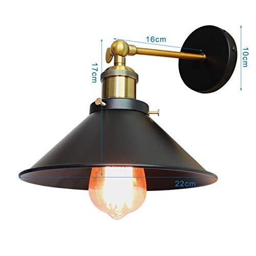 Ashley GAO Aplique de pared Hardwire industrial vintage lámpara de pared simplicidad...