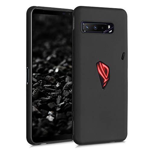 kwmobile Cover Compatibile con ASUS ROG Phone 3 (ZS661KS) - Cover Custodia in Silicone TPU - Backcover Protezione Posteriore - Nero Matt