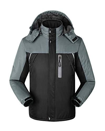 Veste De Montagne pour Couple Extérieure Coupe-Vent Imperméable À L'e u Manteau Alpinisme Vestes Chaudes Noir S