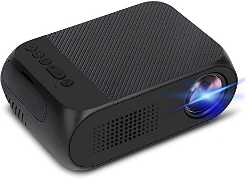 Jaydear Pico LED Mini Projector Full HD 1080P Supported, Pocket Video Projector Compatible with PC TV DVD iPhone iPad USB TF AV HDMI, Home Theater Outdoor Projector for Movie Games Gifts for Kids
