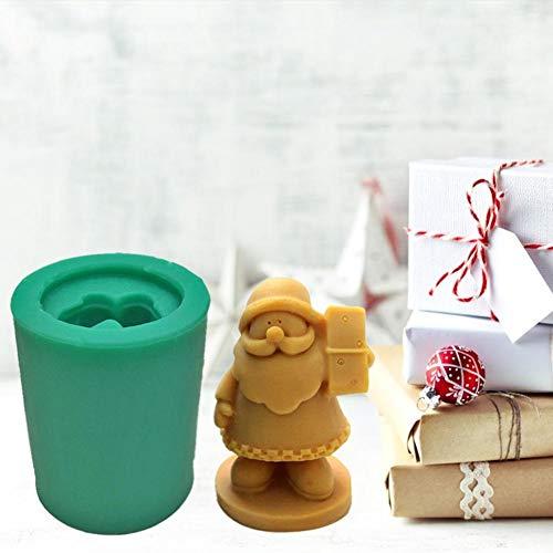 QueenHome Harz Weihnachten Santa Mold 3D Santa Claus Silikonform Kristall Epoxidharzform für DIY