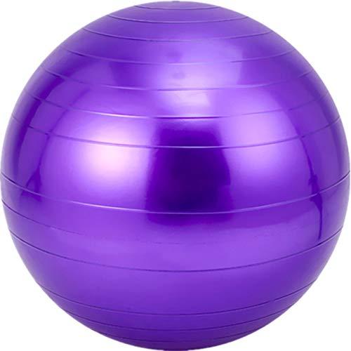 Bola de Yoga Bola de Yoga Bola Gimnasia Gimnasia Bola sensorial de Entrenamiento Integral, PVC Yoga Bola de diámetro 55 cm,Púrpura