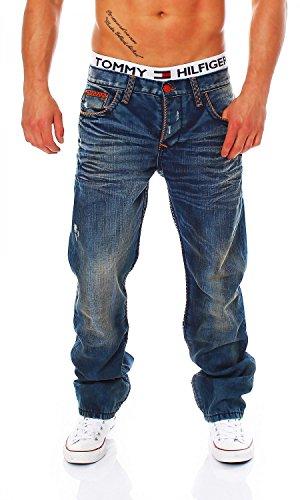 Cipo & Baxx - C-0886 - Regular Fit - Dicke Naht - Men/Herren Jeans Hose, Hosengröße:W31/L34