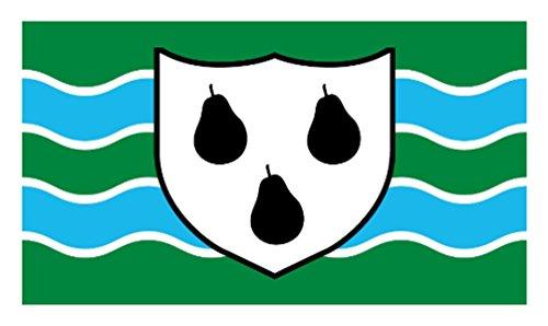 Worcestershire County (nouveau modèle) - 5 'x3'Flag
