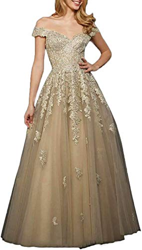 WHZZ Womens Tea Length Mother of The Bride Dress with Jacket Two Piece Evening Dresses Champagne