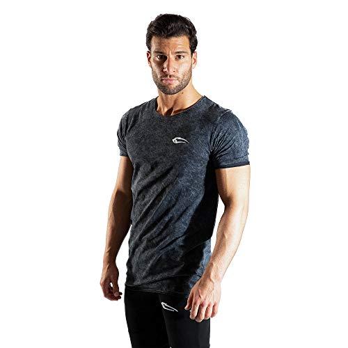 SMILODOX Herren T-Shirt Matrix | Casual Top | Klassisches Design | Top für Sport Fitness Gym & Training | Tanktop mit Logo | Kurzarm |, Farbe:Schwarz, Größe:M