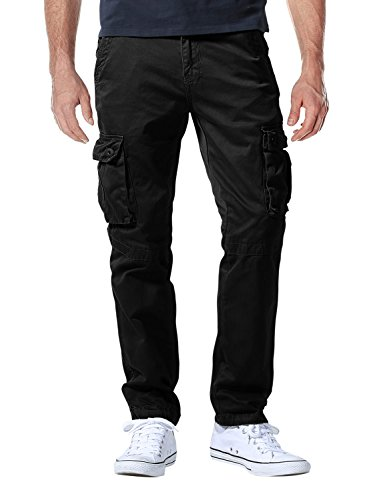 Match Men's Casual Wild Cargo Pants Outdoors Work Wear #6531(32,Black)