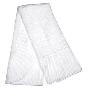 Elegant Baby Heirloom Christening Shawl/Blanket. White