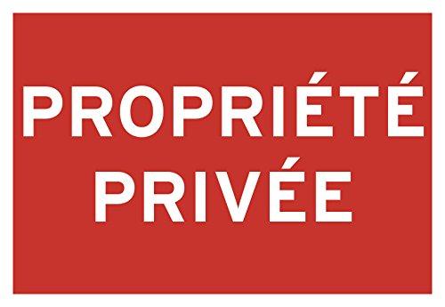 Chapuis PSR7 Panneau pvc adhésif 275 x 190 mm Propriété privée