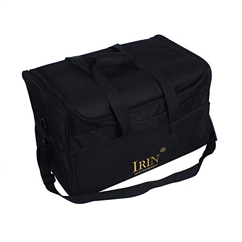 ammoon Cajon Bag Case Backpack Gigbag Hüllen Koffer Standard-Cajon-Box-Trommel-Beutel-Rucksack-Fall 600D Tuch-5MM Baumwollpolsterung mit tragen Handgriff-Schulter-Bügel Schwarz