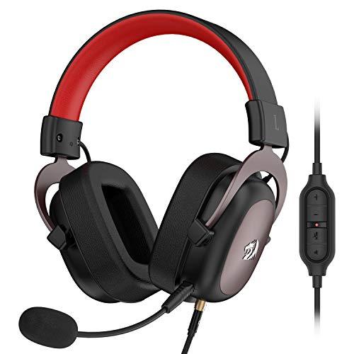 Headset Gamer Redragon Zeus Preto e Vermelho P2 Com Microfone PC e Consoles PS4 / Xbox- H510