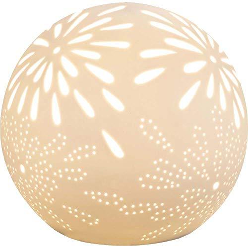 Tisch Leuchte Porzellan Kugel Schlaf Gäste Zimmer Beleuchtung Design Leuchte rund weiß Globo 22803T