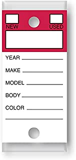 Versa-Tags Genuine Key Tags (Color Top - Red)