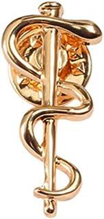 BBLLBroche de la Organización Mundial de la Salud Logotipo de Who Broche de Oro y Astilla Serpiente Caduceo Alfileres Méd...