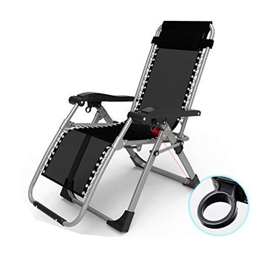 JZBar Casual Pliant Respirant Pause déjeuner Chaise Longue Simple lit Bureau Sieste lit Pliant Taille: 60 * 75 * 80-116cm