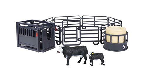 12-Piece Ranch Set - 1:20 Scale - Farm Toy Set - Proprietary Blend of Plastic - Durable & Lifelike - Playable & Collectible