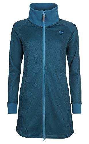 Elkline Damen Fleecemantel Enjoy Zippjacke, Farbe:Blue Coral, Größe:50