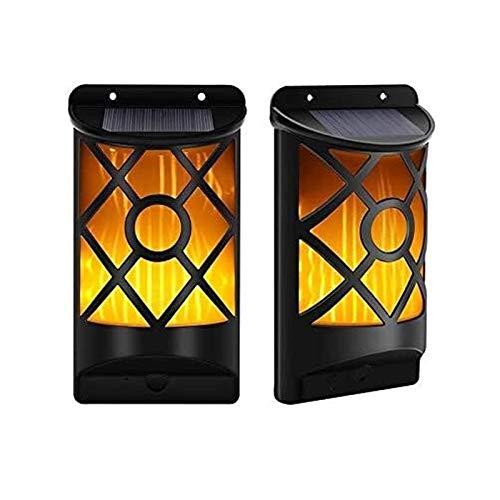 Lámpara de pared resistente 6pcs Solar IP65 Lámpara de pared LED resistente al agua, al aire libre inducción del cuerpo humano luces de la pared del jardín de la calle apliques de luz con acrílico Pan