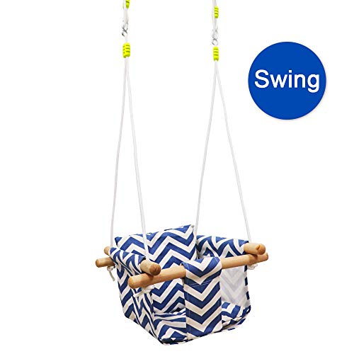 Review Of Baby Kids Canvas Hanging Swing with Soft Cotton Cushions,Indoor&Outdoor Hammock Swing for ...