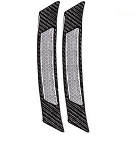 TRUE LINE Automotive Inner Reflective Black Carbon Fiber Wheel Well Fender Door Bumper Trim Molding (Silver)