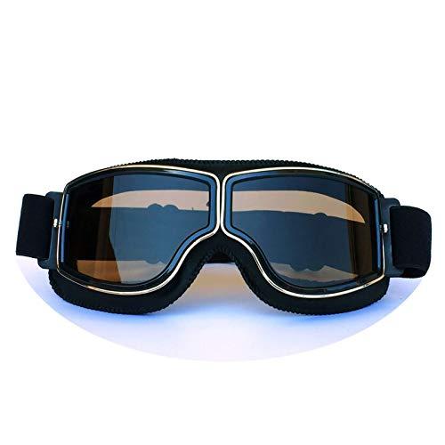Blisfille Gafas de Moto Aviador Gafas de Protección Deportiva,Style 9