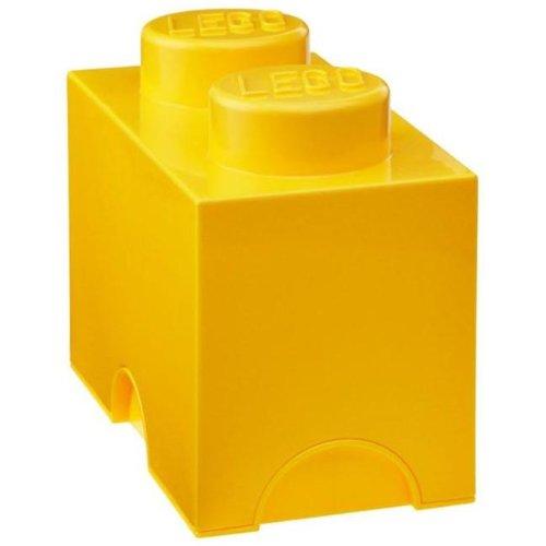 cartorama 40021732 contenitore per lego giallo 12,5x25x18