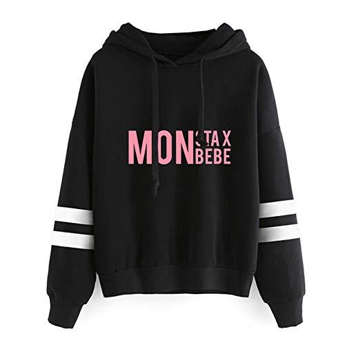 QUIQUOL Monsta X Pullover Sudadera con Cuello Redondo y Elegante Sudadera Deportiva Transpirable (Color : Black15, Size : XL)